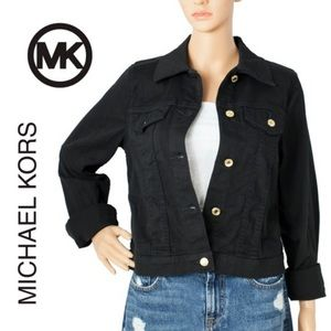 NWT Michael Kors Navy Denim Jacket- Sz M